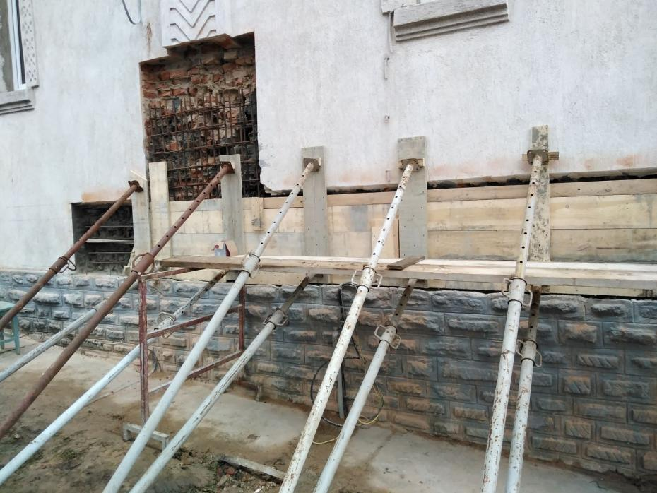 Lucrări biserica exterior